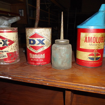 cans found in basement of building in bought - Petroliana