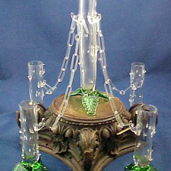 KRALIK HOLY COW THORN VASE SET - Art Glass