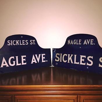 New York City street corner signs (1920s) - Signs