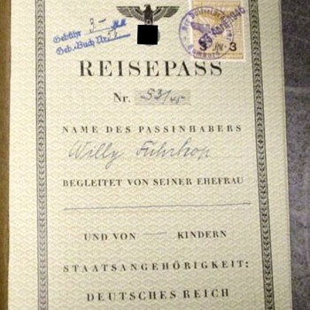 One of the very last Nazi-Germany passports...