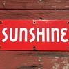 Red Sunshine Beer Sign