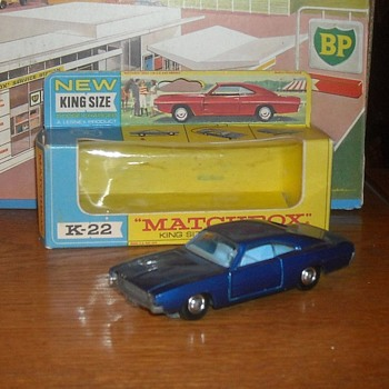 Matchbox King Size K-22 Dodge Charger 1969-1970 - Model Cars