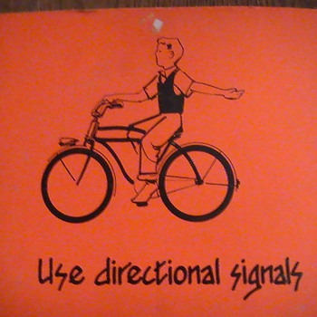 Bicycle saftey posters.