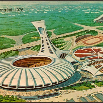 "1976 - Montreal ""Olympic Park"" Postcard - Postcards"