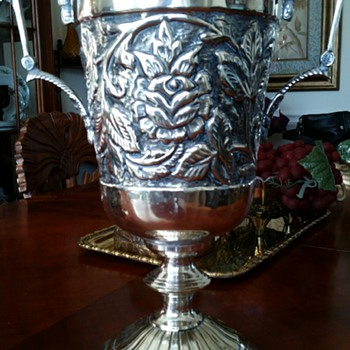"Silver Plated ""Loving Cup""  w/Rose Embellishment - Sterling Silver"