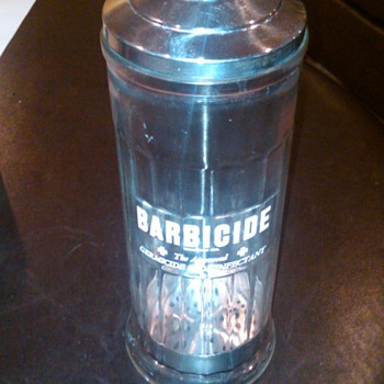 Barbicide jar - Advertising