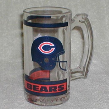 Chicago Bears NFL Glass Mug - Football