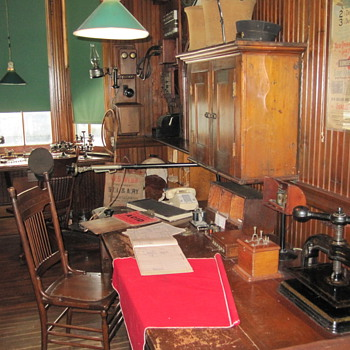 Stationmaster's Office Circa 1890, Shelburne Station, Shelburne Museum - Railroadiana