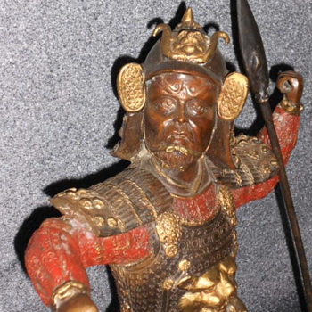 Bronze samurai 100 years old - Asian