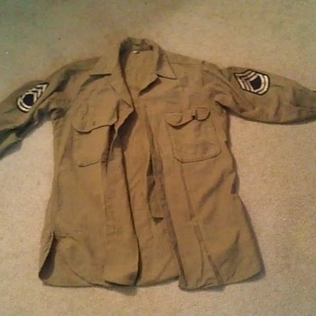 Grandpa&#039;s WWII Army uniform (shirt and hat) - Military and Wartime
