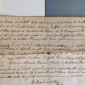 Marriage or Birth Certificate or Receipt of some sort Spanish 1818