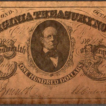 Confederate Currency - Novelty Note (Virginia)