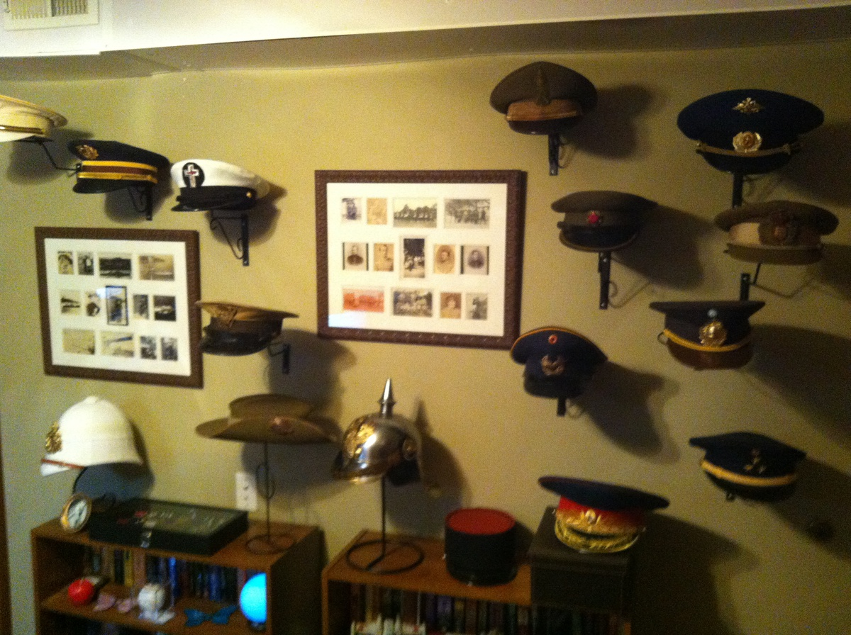 military hat collection display collectors weekly