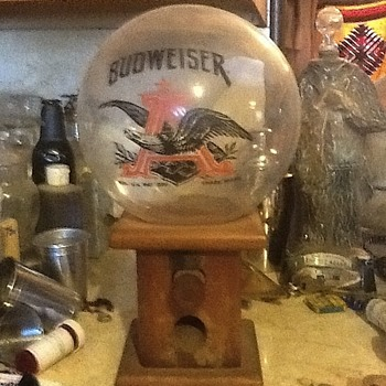 Budweiser gum ball machine