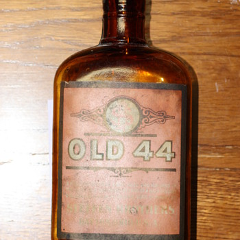 """OLD 44"" Rye Whiskey bottle"