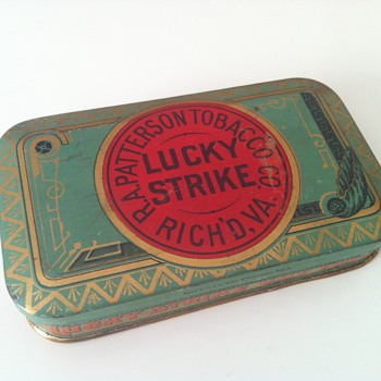 Vintage Lucky Strike Cut Plug Tobacco Tin - Advertising