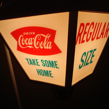 VINTAGE 1960'S COCA COLA ROTATING LAMP ADVERTISING SIGN! - Coca-Cola