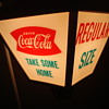 VINTAGE 1960'S COCA COLA ROTATING LAMP ADVERTISING SIGN!