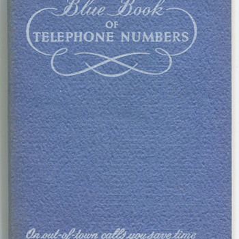 50's 60's Bell Telephone of PA Address Book