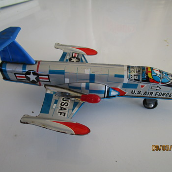 Vintage Tin Jet Airplane