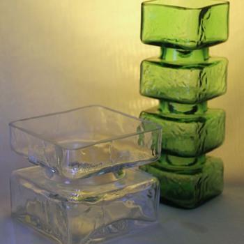 Riihimaki Pala Vases  - Art Glass
