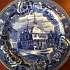Boston Town House Blue Transferware By Wedgewood