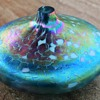Roger Vines Art glass oil lamp