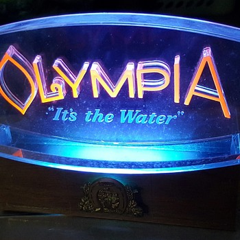 Vintage Olympia Beer Sign - Breweriana