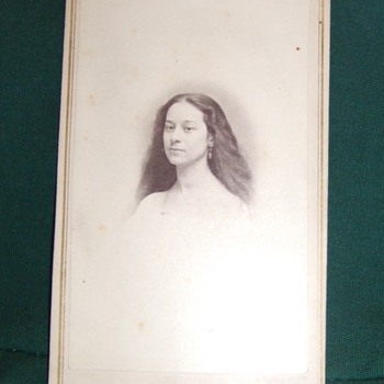 Kentucky woman with long flowing hair CDV