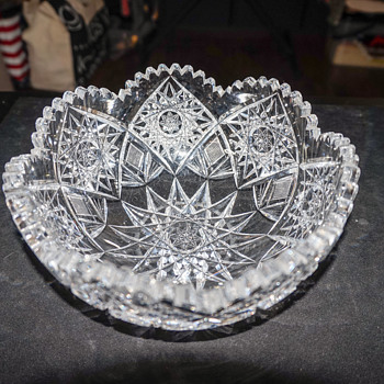 Cut Lead Crystal Bowl - Glassware