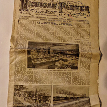 December 1912 Michigan Farmer.