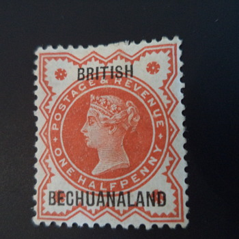 Queen Victoria one halfpenny - Stamps