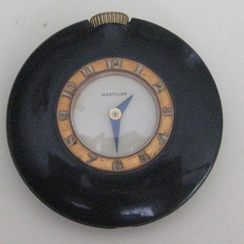 "Westclox ""Bakelite"" Handbag Watch - Pocket Watches"