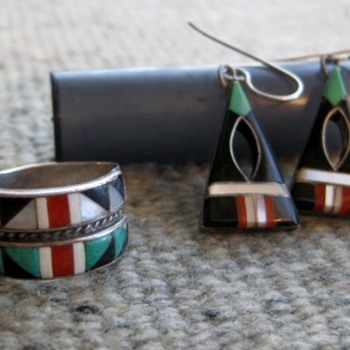 Favorite Zuni earrings and ring - not purchased together
