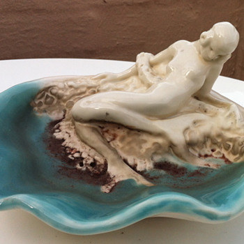 Rookwood mermaid - Pottery