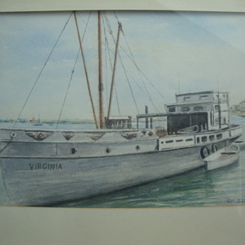 watercolor by CH. ZUCK. need info on artist