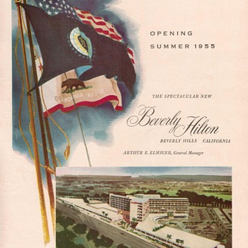 1955 Beverly Hilton Hotel Advertisement - Advertising