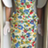 Titian sidepart Bubblecut Barbie in On the Go Floral Sheath