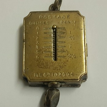 Victorian Combined Postage Scales and Stamp Holder Watch Fob