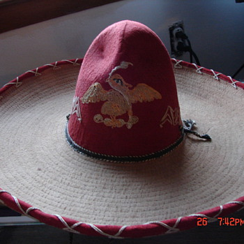 Antique Mexican Sombrero with Eagle Crest??? - Mens Clothing