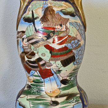 Handpainted Japanese? Vase - Pottery