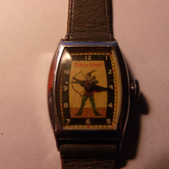 E. Ingraham/Bradley Robin Hood Wrist Watch Circa 1954 - Wristwatches