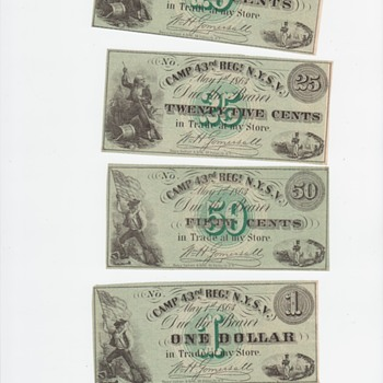 Camp 43rd Regiment N.Y.S.V. - US Paper Money