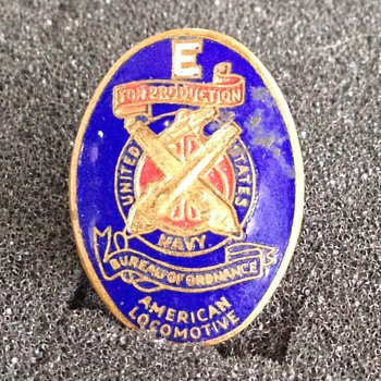 """E"" production pin - Military and Wartime"