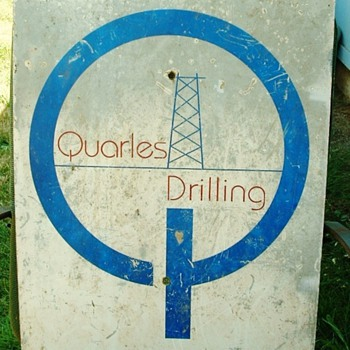 Metal Oil Rig Drilling Sign  - Petroliana