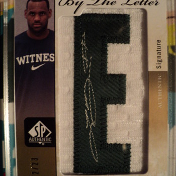 2011/12 SP Authentic By the letter Auto LeBron James 2/23