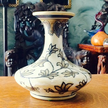 Unknown Vintage Hand Painted Pottery Vase HELP - Art Pottery