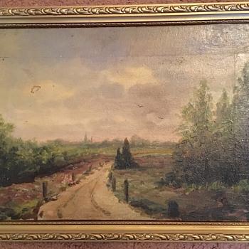 "Painting Plein Air Landscape SIGNED ""CA"" Monogram - Visual Art"