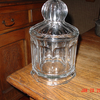 A True Antique...Heisey Fruit Jar...1908