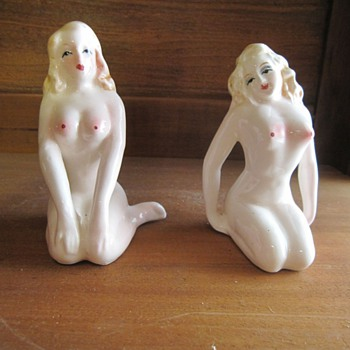 Jananese Topless Nude Salt and Paper Shakers